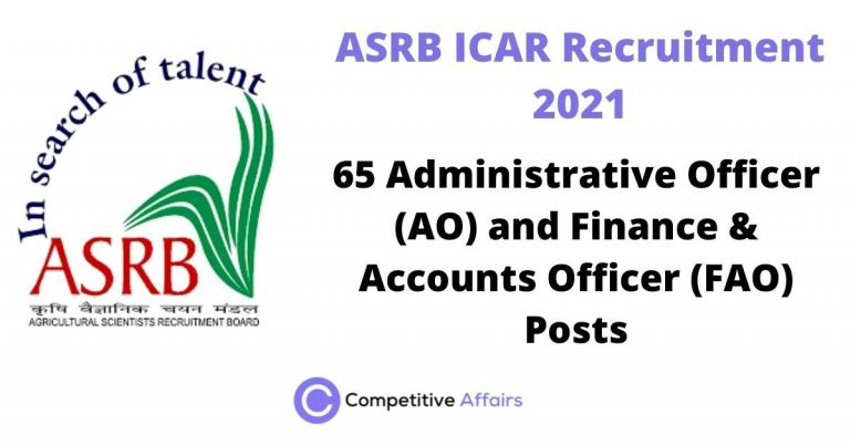 ASRB ICAR Recruitment 2021