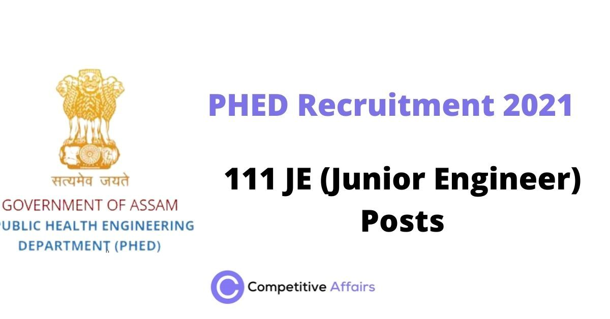 PHED Recruitment 2021