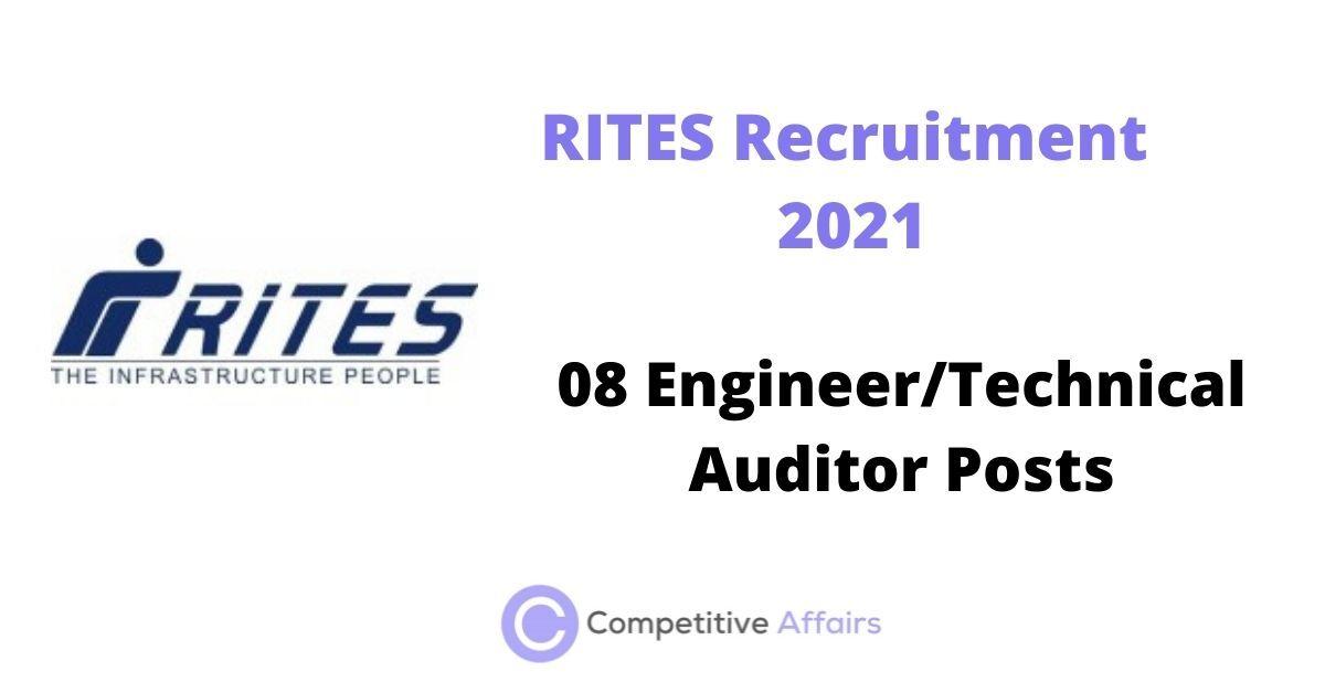 RITES Recruitment 2021