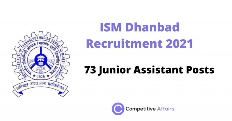 ISM Dhanbad Recruitment 2021