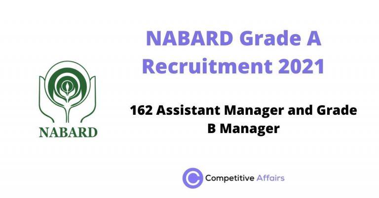 NABARD Grade A Recruitment 2021