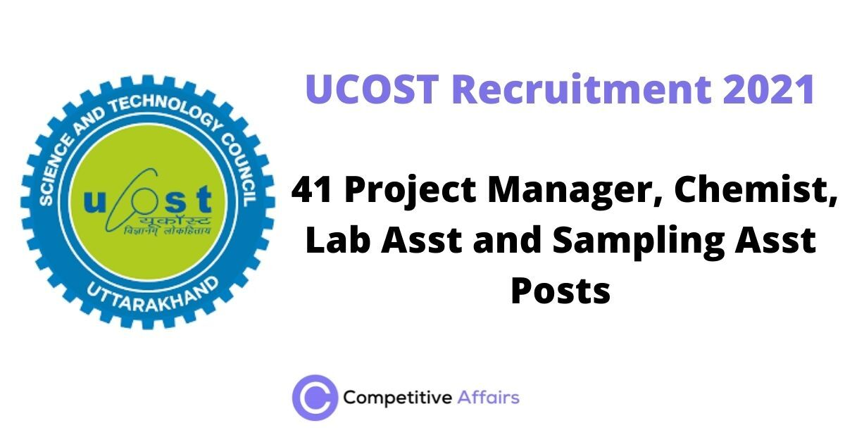 UCOST Recruitment 2021