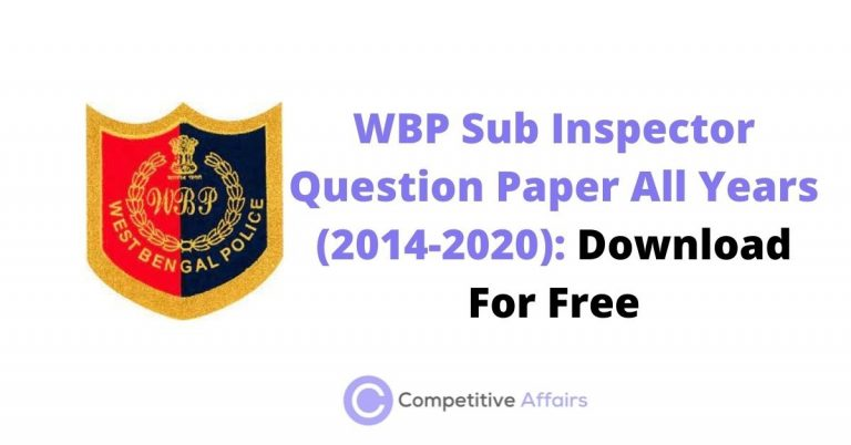 WBP Sub Inspector Question Paper