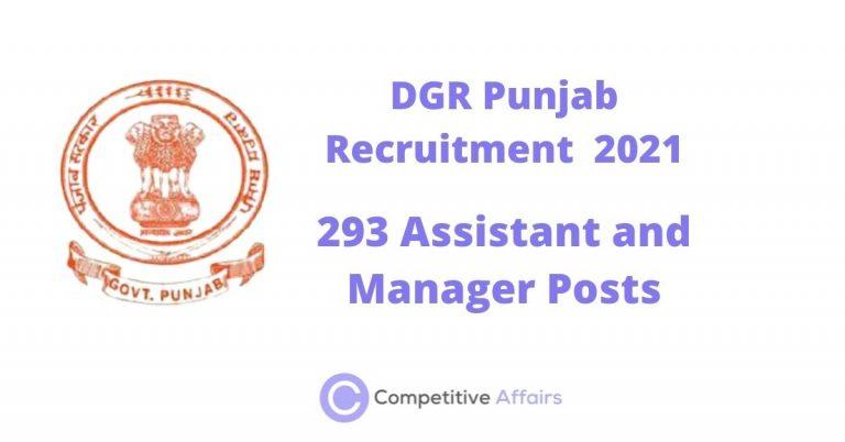 DGR Punjab Recruitment 2021