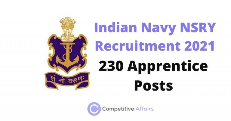 Indian Navy NSRY Recruitment 2021