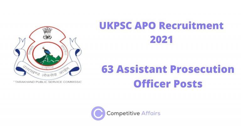 UKPSC APO Recruitment 2021