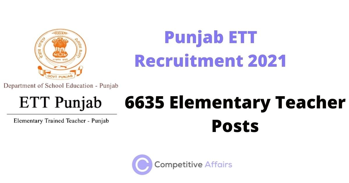 Punjab ETT Recruitment 2021