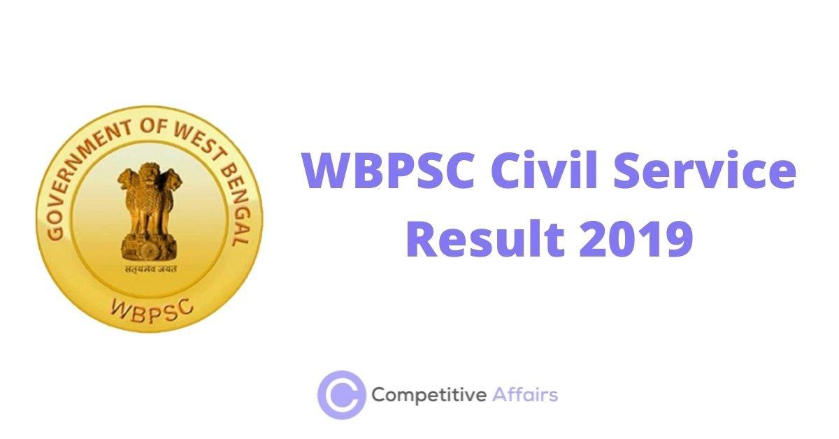WBPSC Civil Service Result 2019