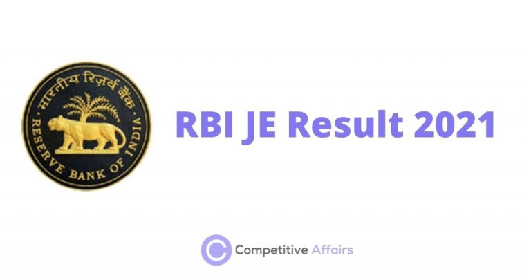 RBI JE Result 2021