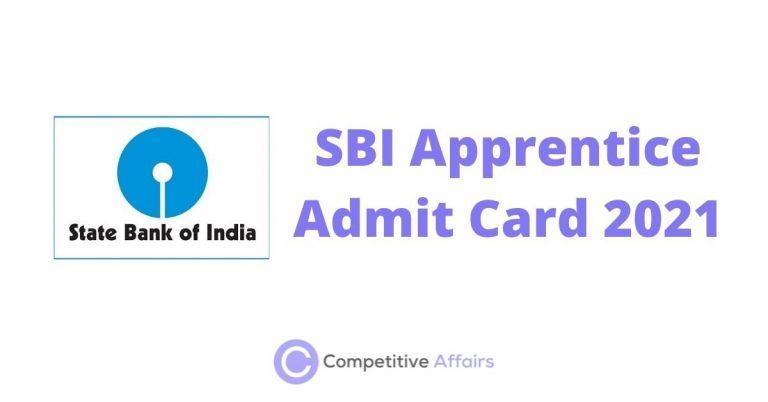 SBI Apprentice Admit Card 2021