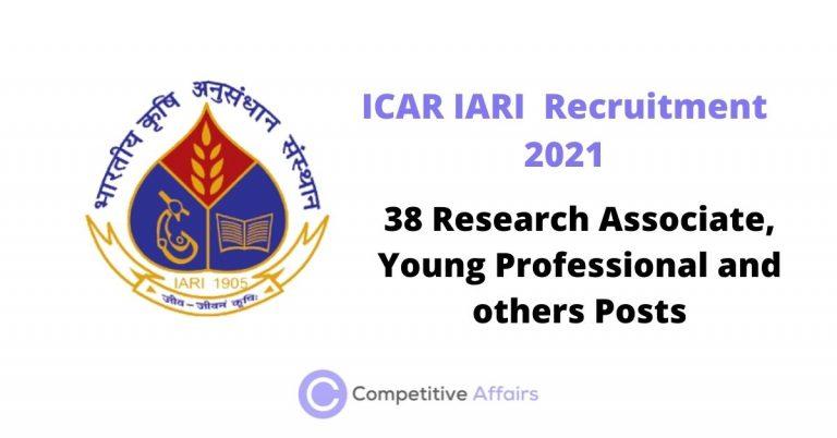 ICAR IARI Recruitment 2021