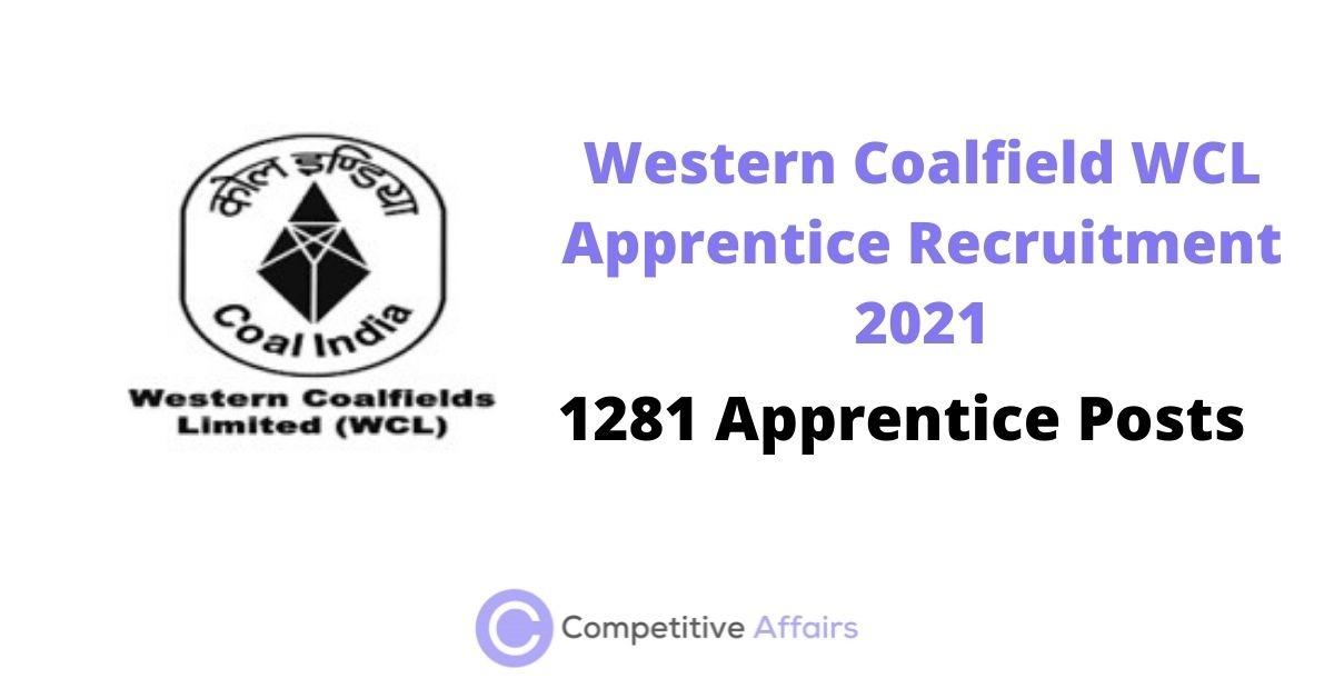 Western Coalfield WCL Apprentice Recruitment 2021