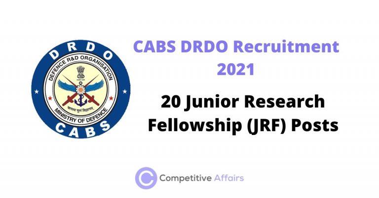 CABS DRDO Recruitment 2021