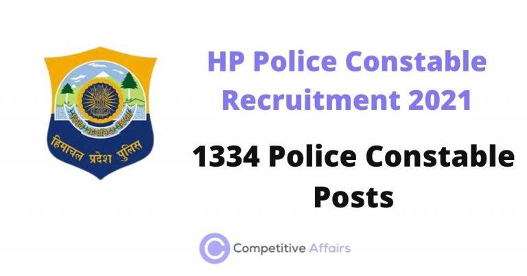 HP Police Constable Recruitment 2021