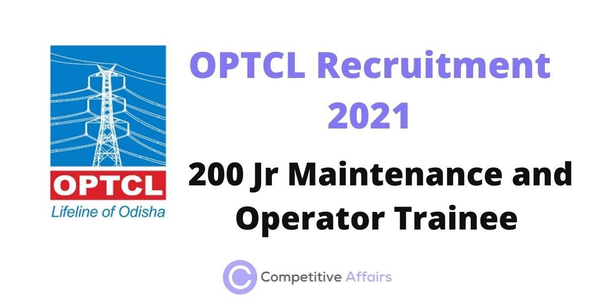 OPTCL Recruitment 2021