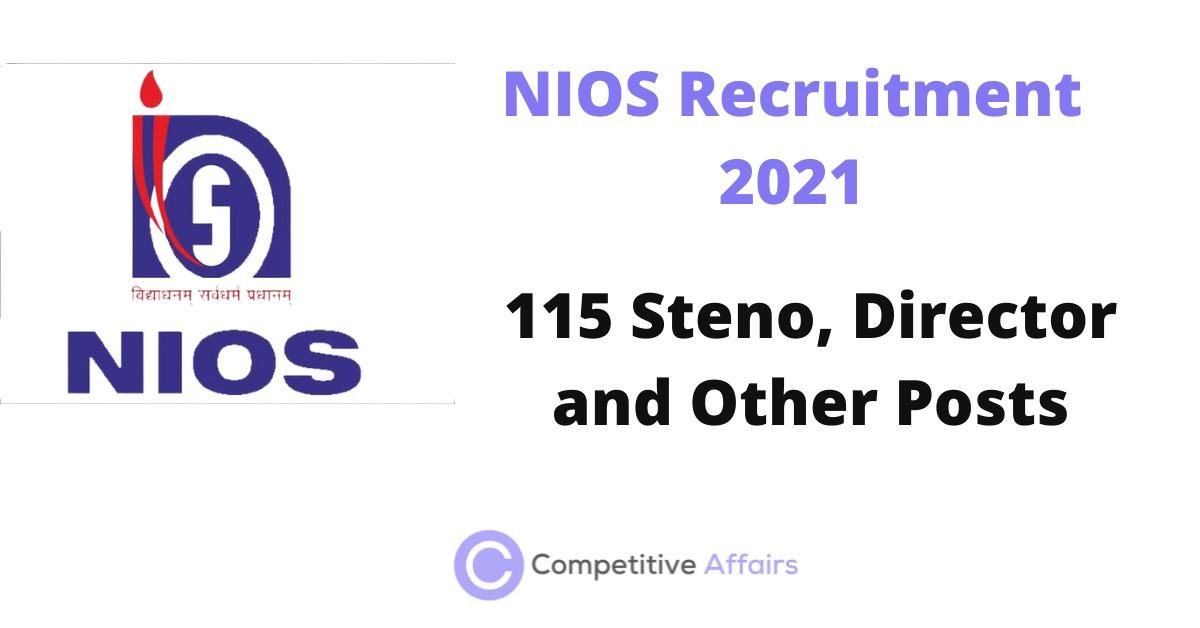 NIOS Recruitment 2021