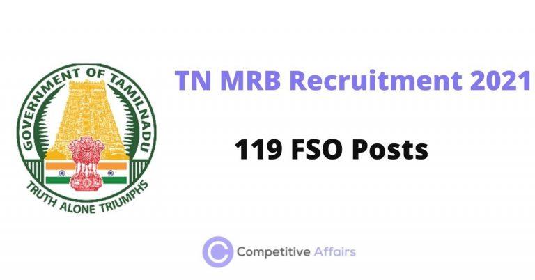 TN MRB Recruitment 2021