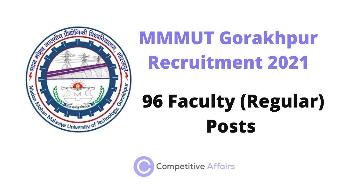 MMMUT Gorakhpur Recruitment 2021