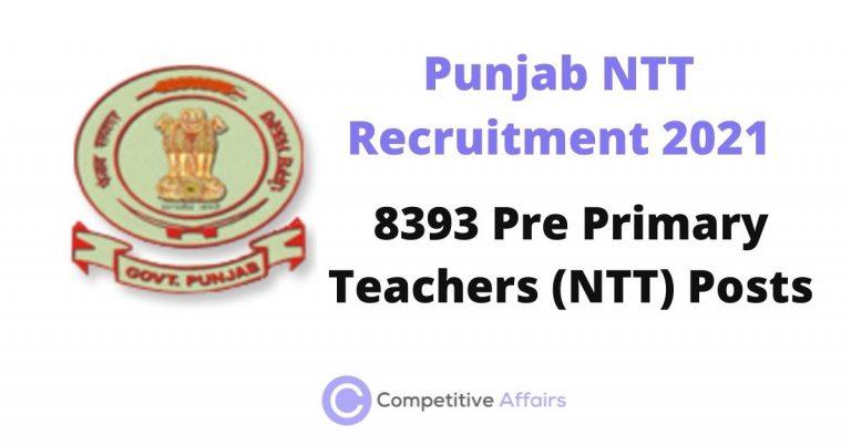 Punjab NTT Recruitment 2021