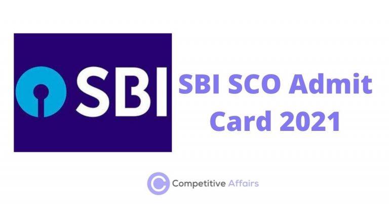SBI SCO Admit Card 2021
