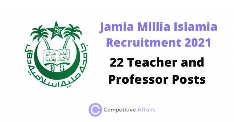 Jamia Millia Islamia Recruitment 2021