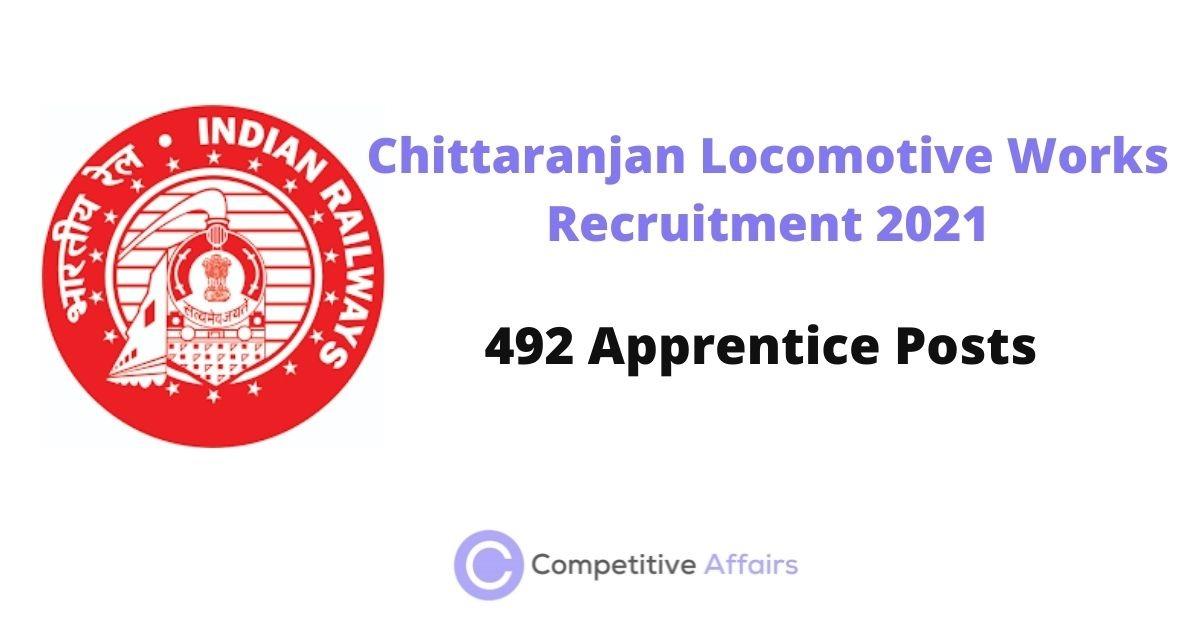 Chittaranjan Locomotive Works Recruitment 2021