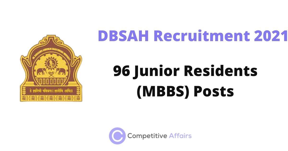 DBSAH Recruitment 2021
