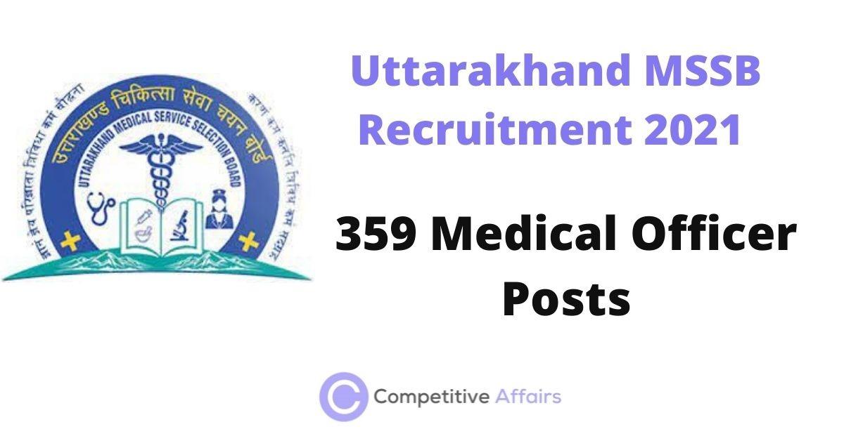 Uttarakhand MSSB Recruitment 2021