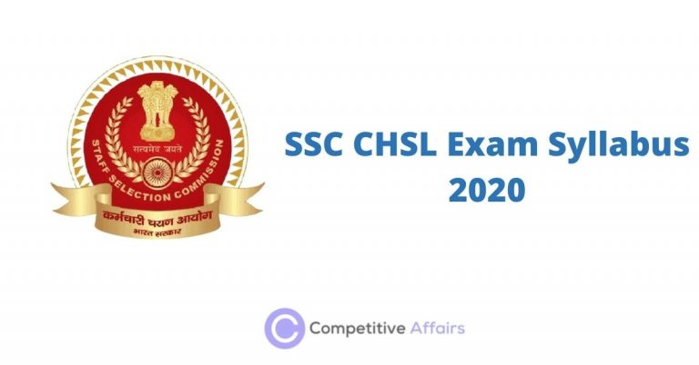 SSC CHSL Exam Syllabus 2020