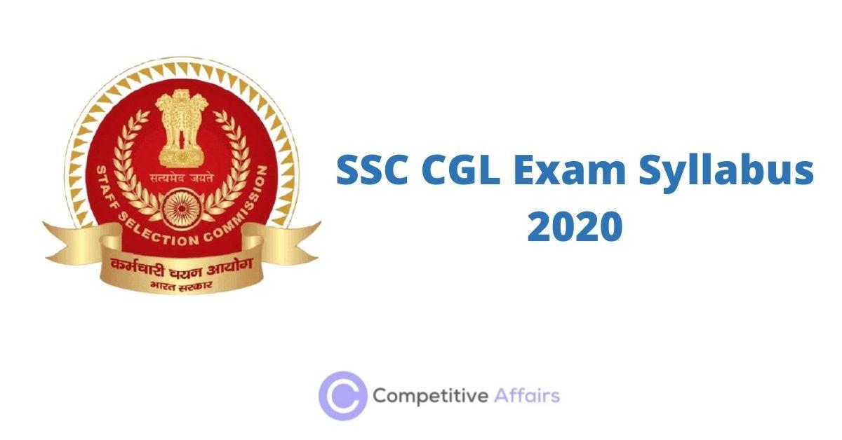 SSC CGL Exam Syllabus 2020