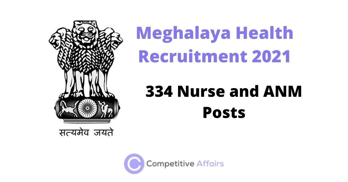 Meghalaya Health Recruitment 2021